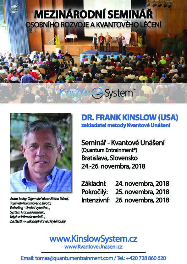 Dr. Frank Kinslow – seminár v Bratislave